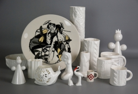 Produce of Piebalga Porcelain Factory for purchase at the Museum