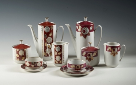 "The exhibition ""Riga porcelain. The second half of the 20th century. Services from the Riga Porcelain Museum collection"""