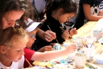 Open-air porcelain painting workshop